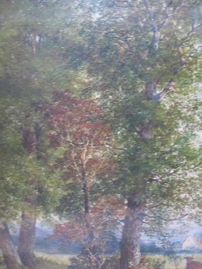 Antique European oil on canvas lanscape painting - 5
