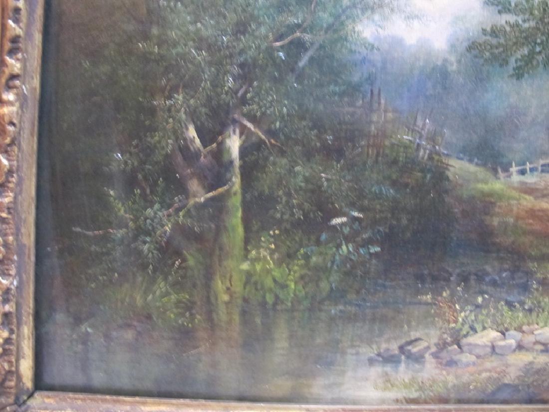 Antique European oil on canvas lanscape painting - 6