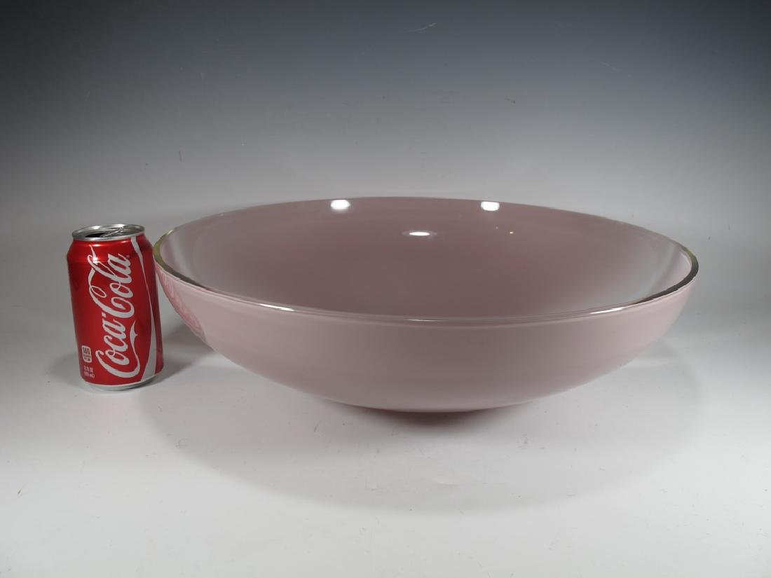 Huge Italian OGGETTI Murano glass bowl