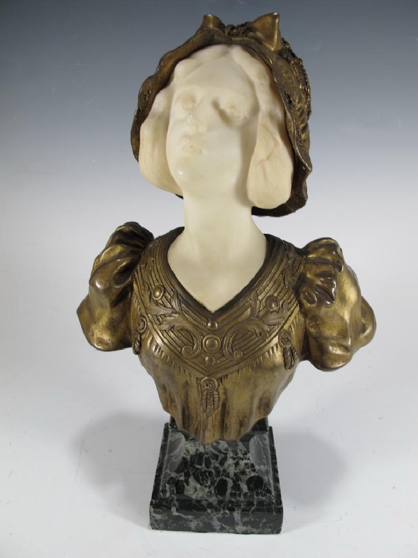 Affortunato GORI (act.1895-1925) bronze & marble bust