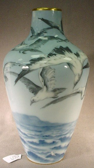 109: Hand painted Limoges France porcelain vase