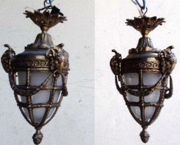 10: Old pair of French hang lamps
