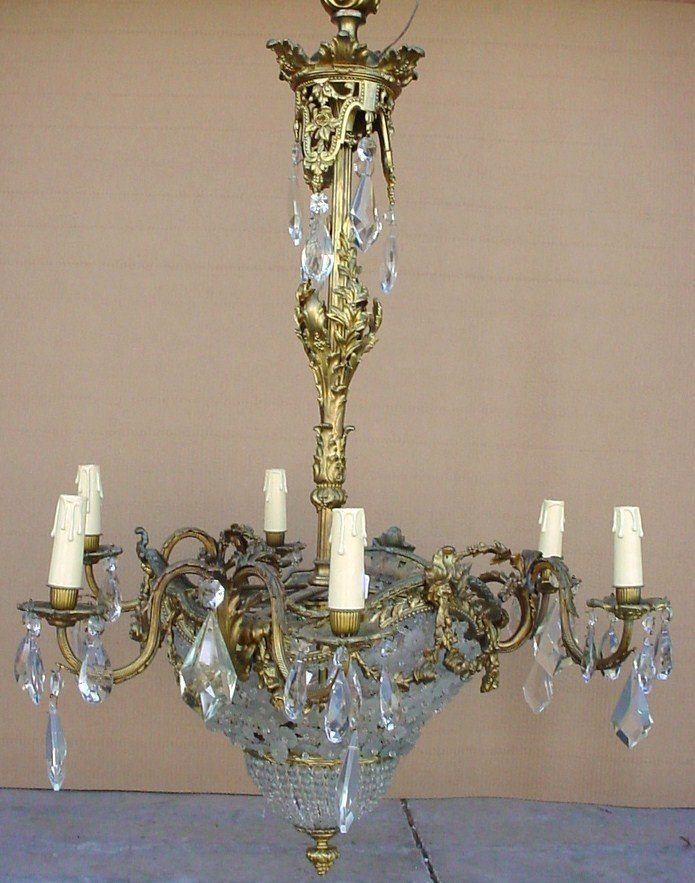 19: French Baccarat style chandelier