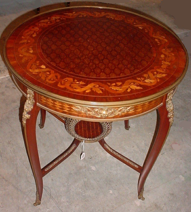 197: French 19th C. table possible F. Linke