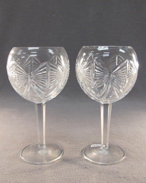 20: Waterford pair of crystal glasses