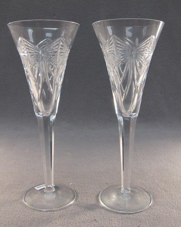 21: Waterford pair of crystal glasses