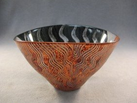 2: Old Art Deco glass bowl