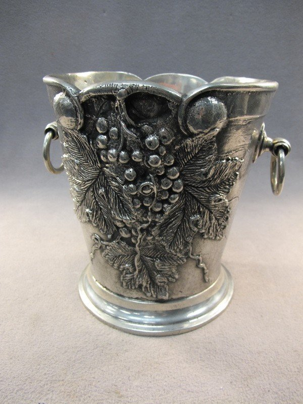 3: Old British pewter ice bucket