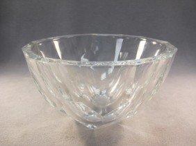 6: Orefors signed glass bowl