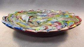 14: Italian murano colored tray