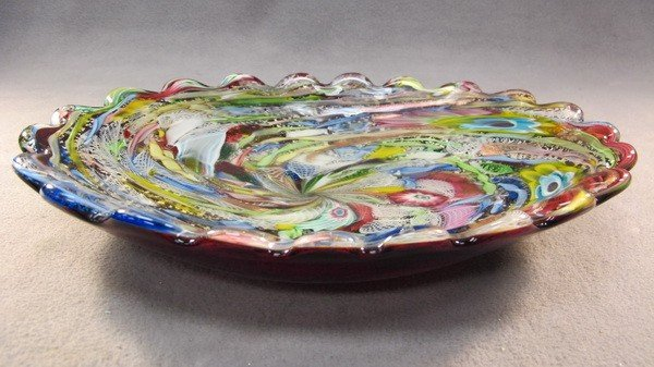 14: Italian murano colored tray