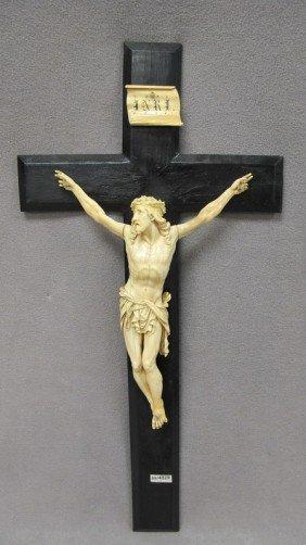 19: European carved ivory Jesus Christ