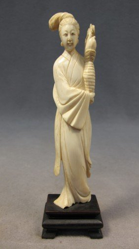 Chinese Carved Ivory Statue