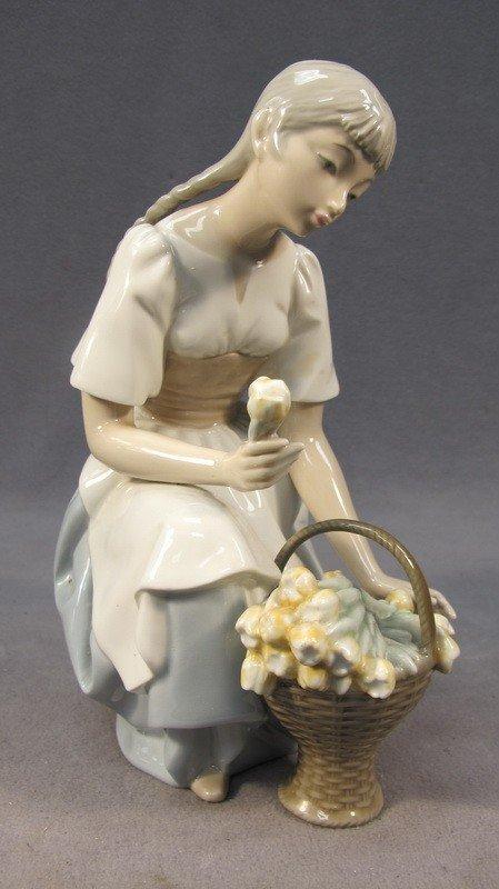 99: Spanish porcelain girl statue