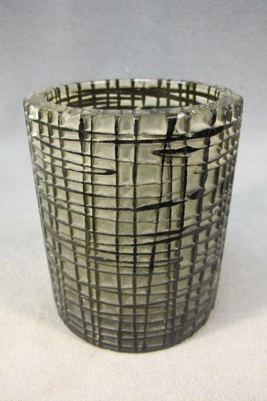 100: French Art Deco glass vase