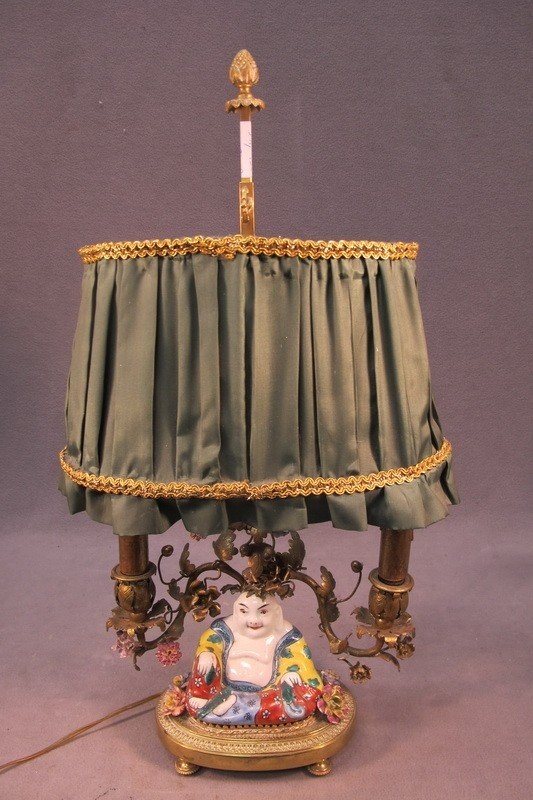 101: French bronze table lamp