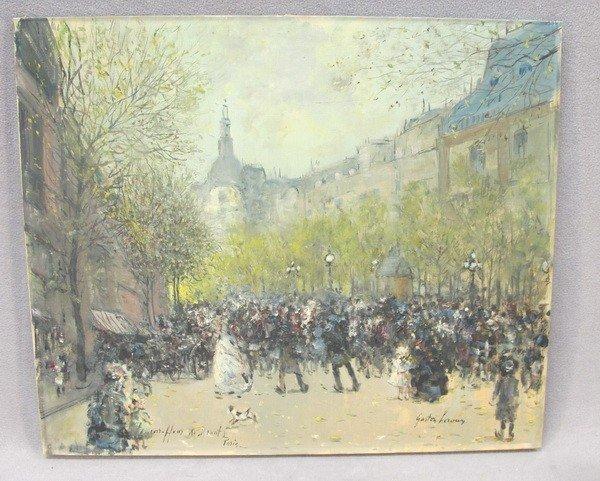105: Gaston LEROUX oil on canvas