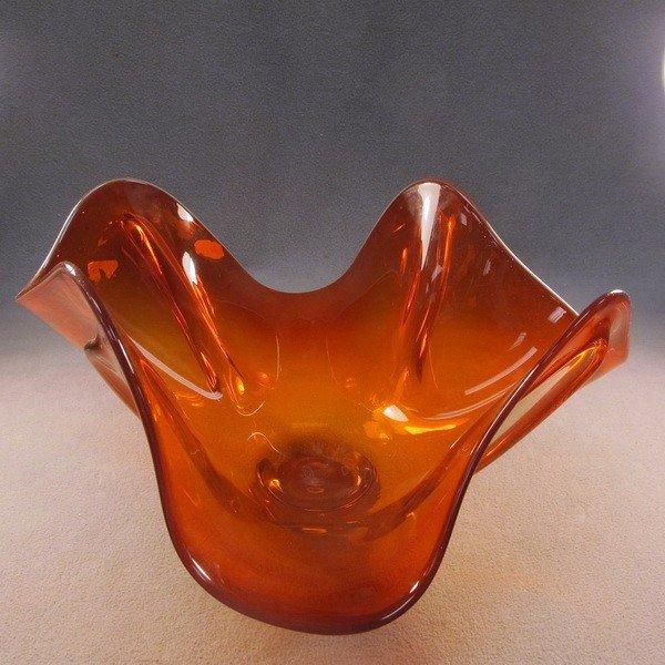 109: European glass centerpiece