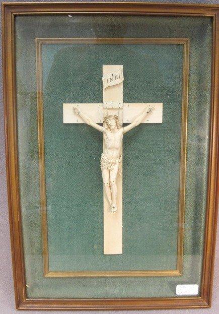 110: European carved ivory Jesus Christ