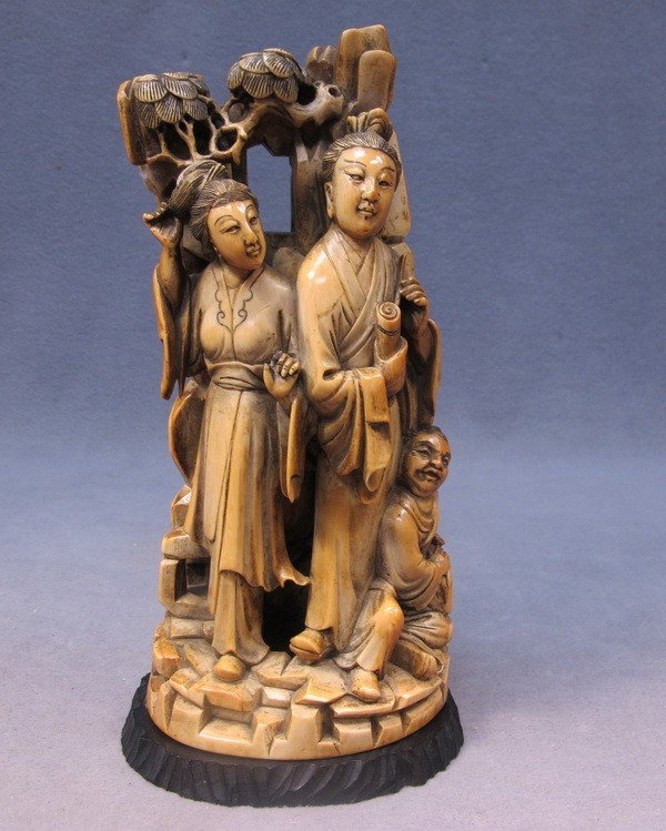 119: Japanese carved ivory group