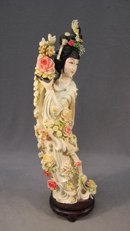 130: Chinese carved ivory statue