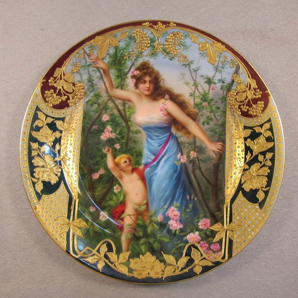 266: Old Vienna porcelain plate