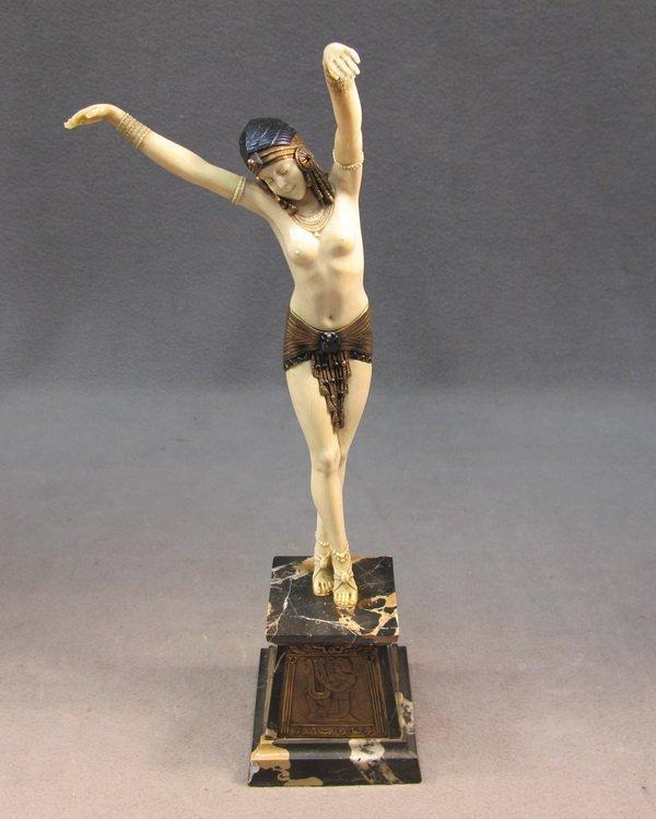 359: Dimitri CHIPARUS Egyptian dancer bronze & ivory st
