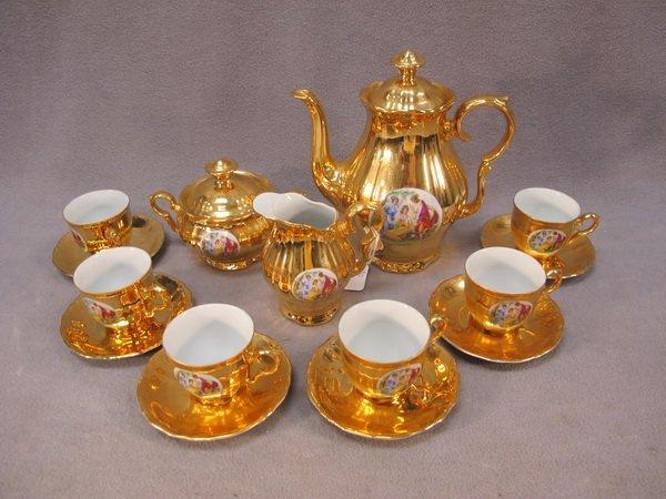 2: Czechoslovakian porcelain coffeepot set