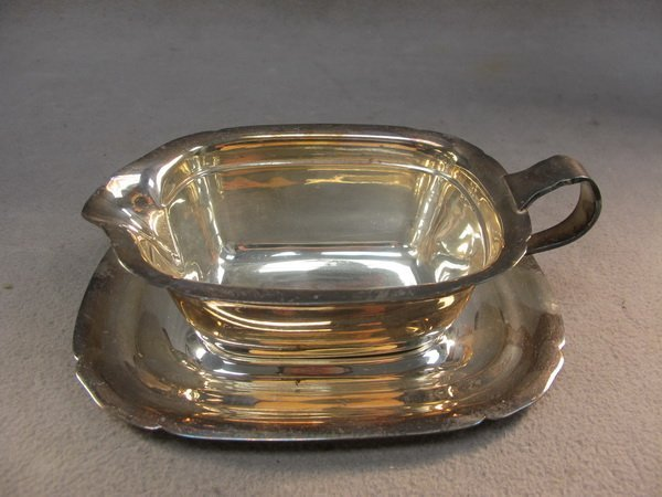 7: Reed & Barton silver-plate sauce boat