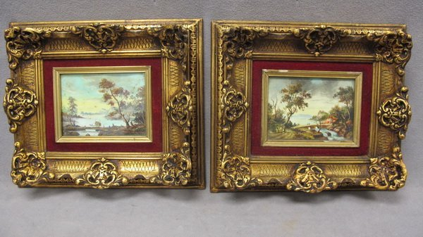 12: French school pair of paintings, Montaner