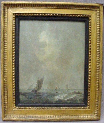13: German school seascape painting