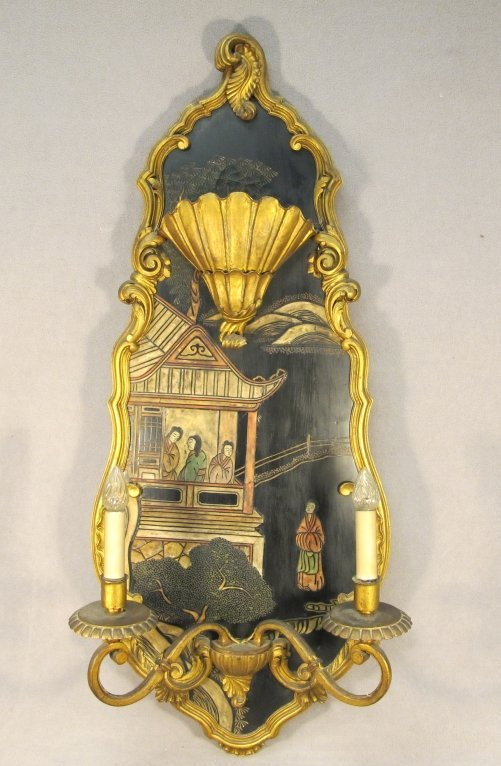 19: Old Jansen Chinese wall sconce