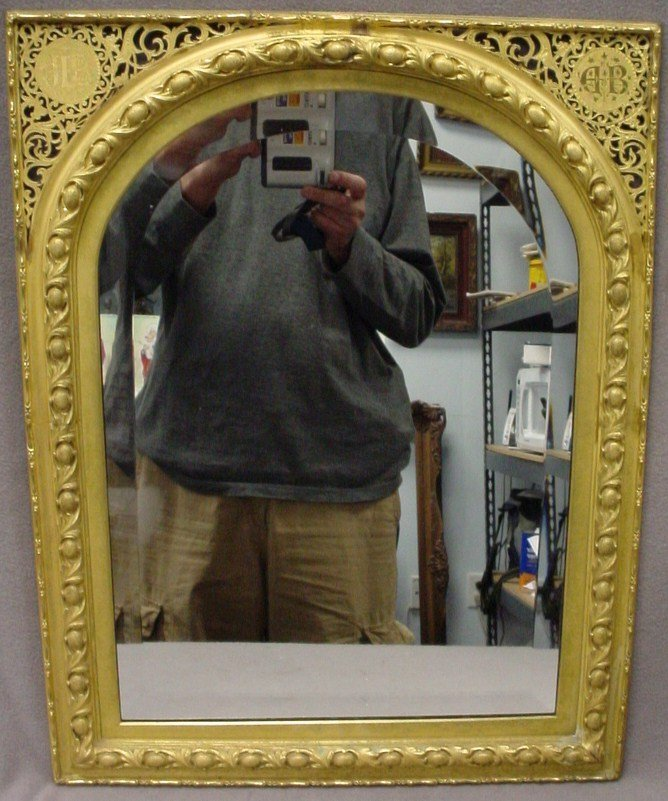 24: Old French gilded bronze wall mirror
