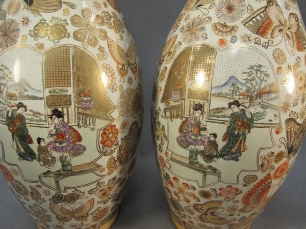 188: Chinese pair of porcelain vases - 8