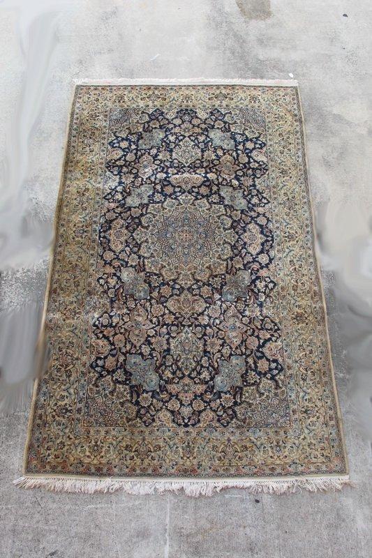 224: Old hand made Persian Tabriz rug
