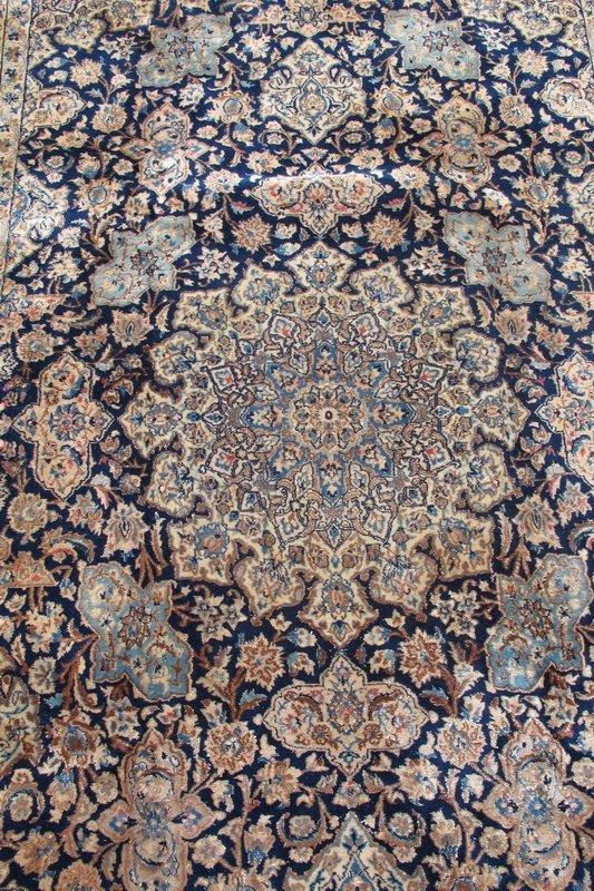 224: Old hand made Persian Tabriz rug - 2