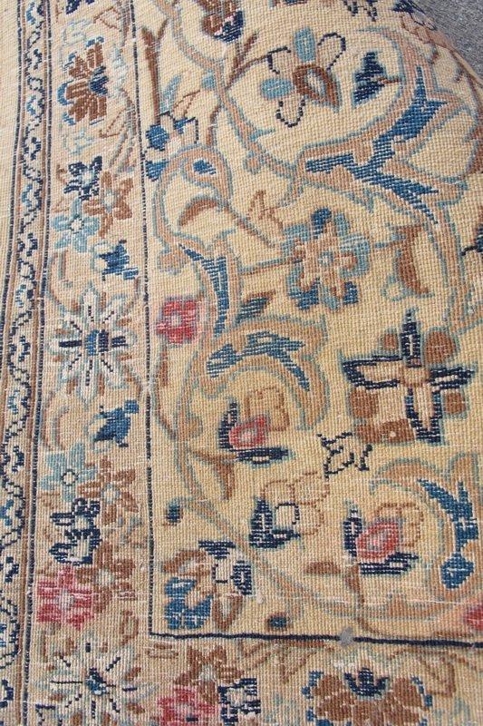 224: Old hand made Persian Tabriz rug - 5