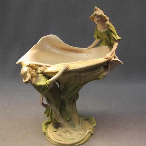 303 Royal Dux Art Nouveau Porcelain Vase