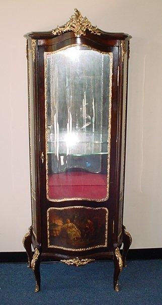 22: French Louis XV painted vitrine