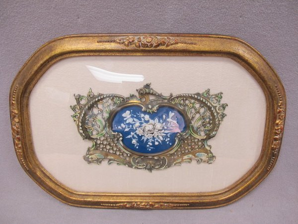 3: French probably bronze & porcelain plaque