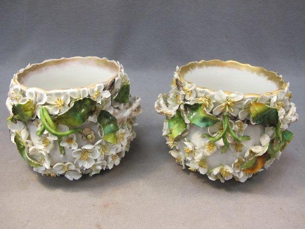 5: German pair of porcelain vases