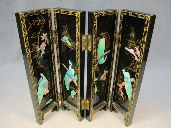8: Chinese miniature folding screen