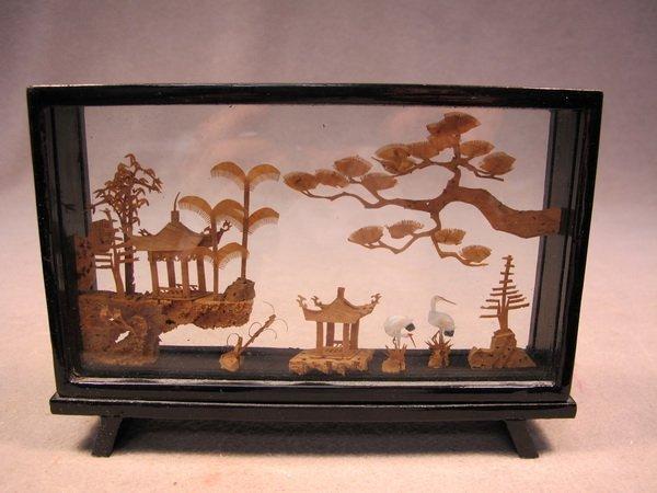 11: Chinese cork & ivory miniature sculpture