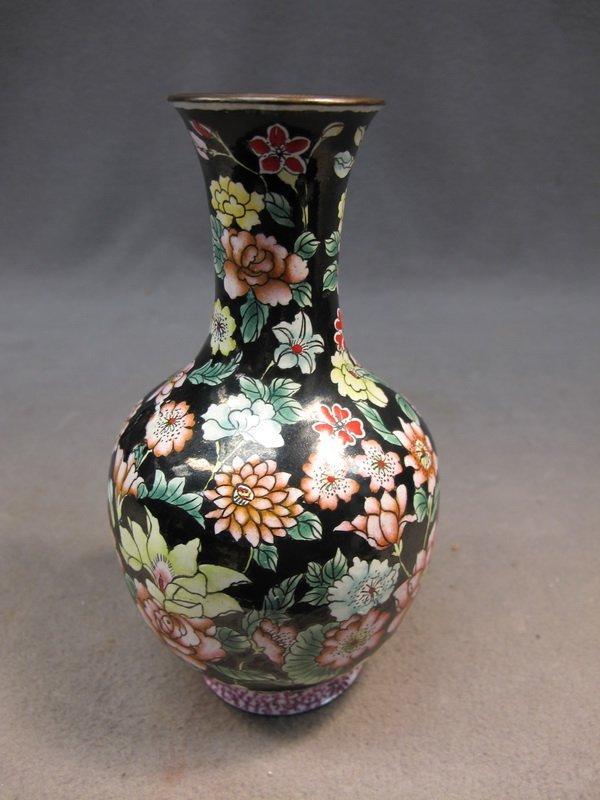 13: Chinese enamel metal vase