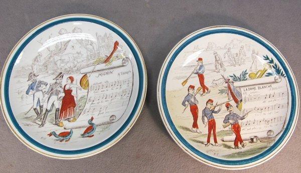 "16: 2 French 'Terre de Fer"" plates"