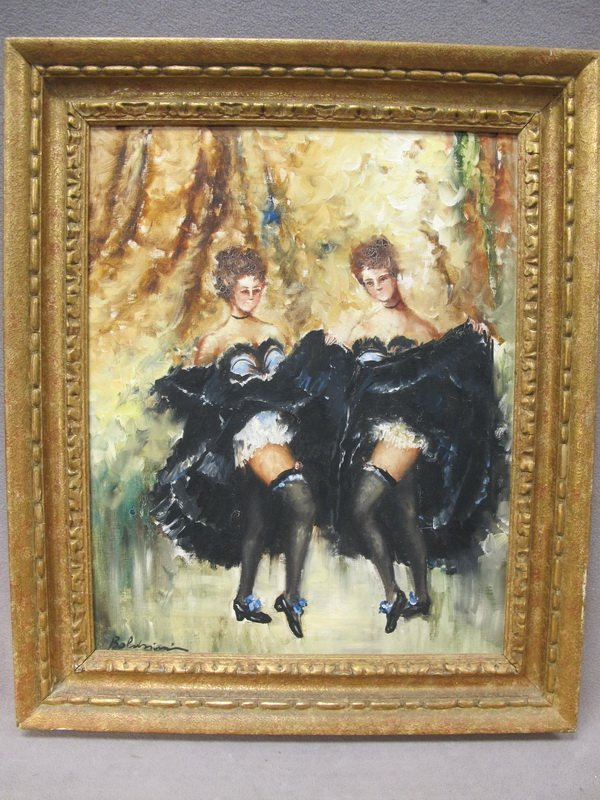 24: Dancers oil on canvas, signed Boldini