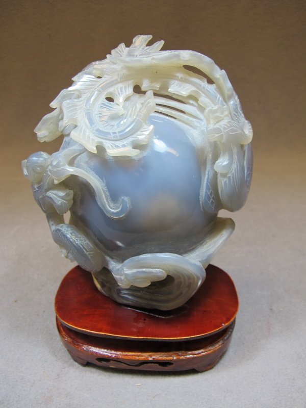 3: Chinese carved Agatha sculpture