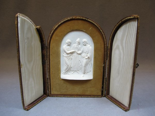 5: European carved ivory plaque