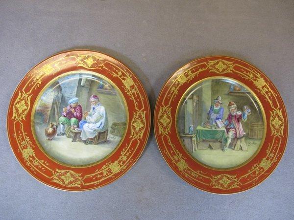 6: Sevres pair of porcelain plates