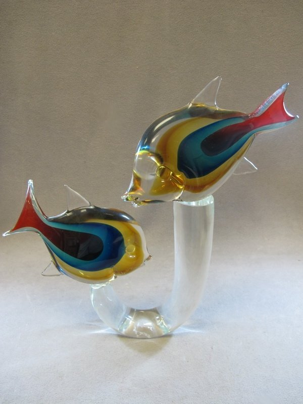 14: Italian murano glass fish sculpture